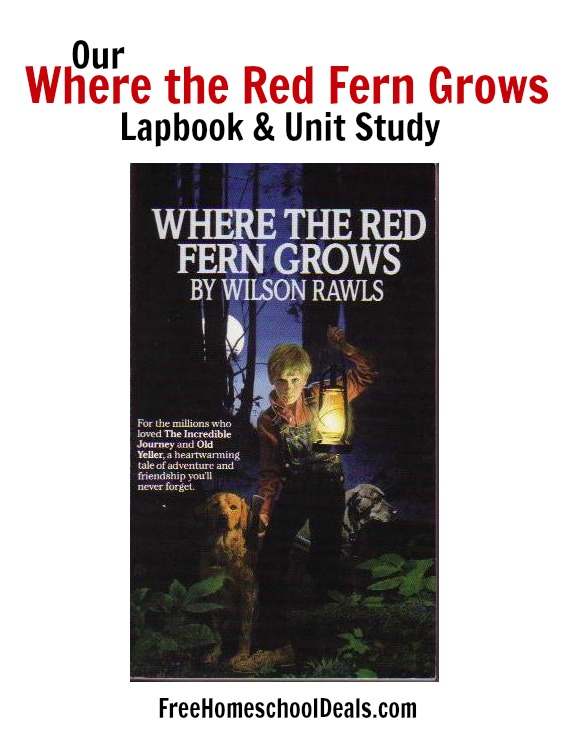 Where the Red Fern Grows lapbook and unit study