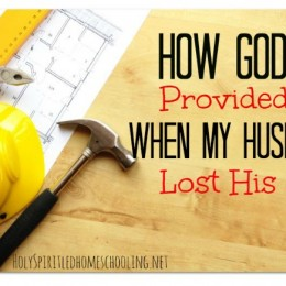 How God Provided When My Husband Lost His Job
