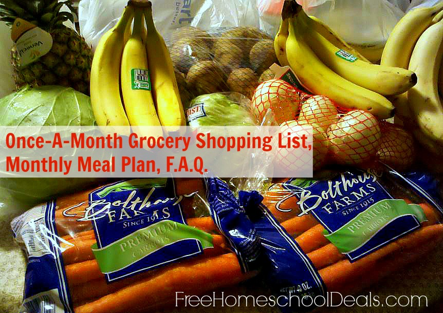 once a month grocery shopping