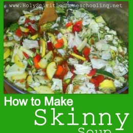 How to Make Skinny Soup Recipe (Free Printable Recipe)