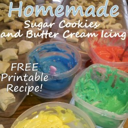 Homemade Butter Cookies & Butter Cream Icing Recipes