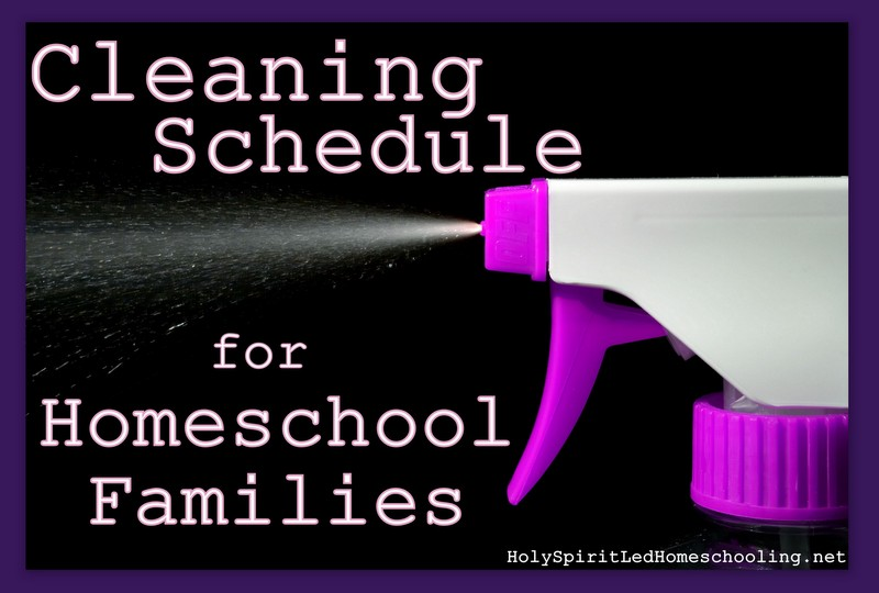 cleaning schedules for homeschool families