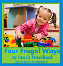 frugal ways to teach preschool