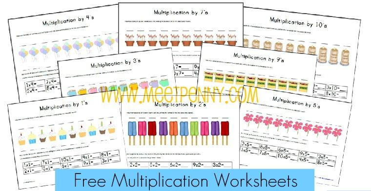 free multiplication worksheets free homeschool deals. Black Bedroom Furniture Sets. Home Design Ideas