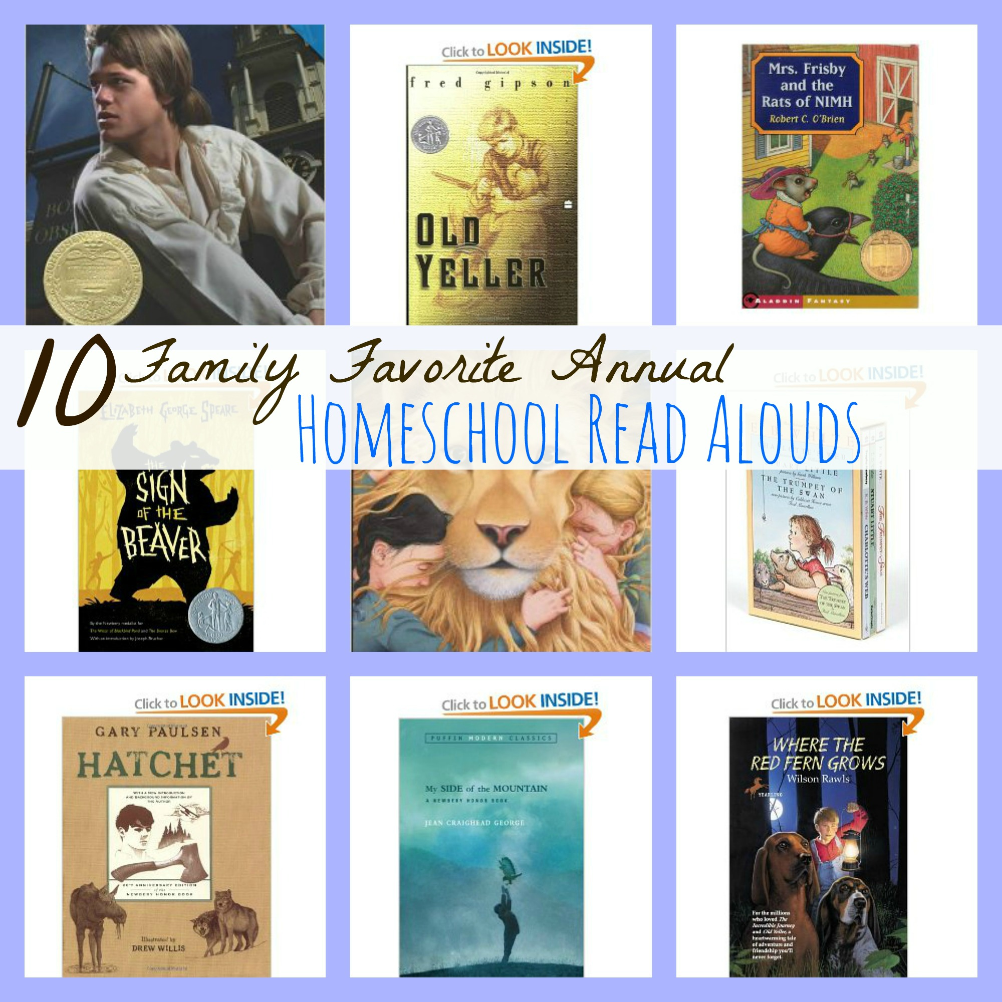 Must Read Homeschool Articles For Encouragement And: 10 Family Favorite Annual Homeschool Read Alouds