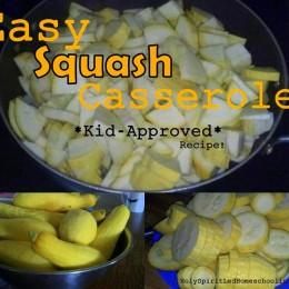 Easy Squash Recipe: Squash Casserole Recipe