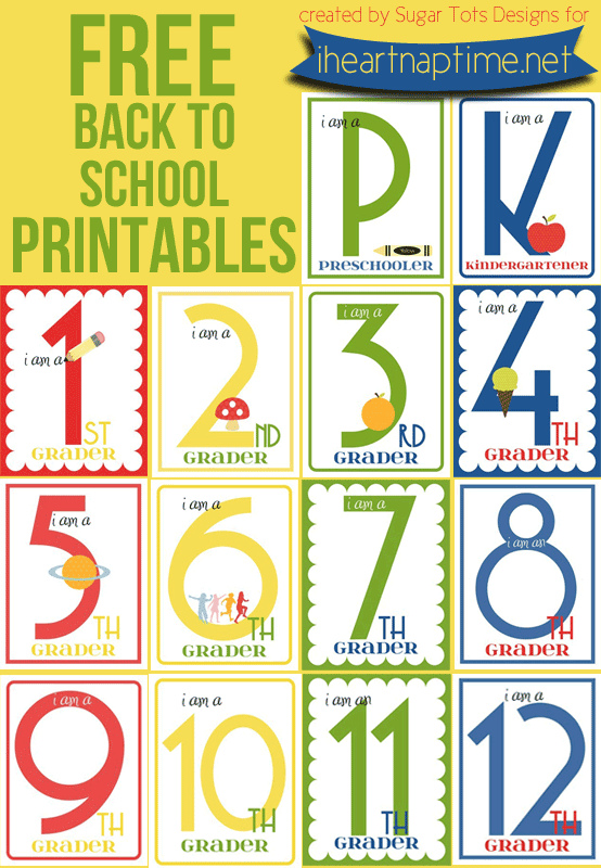 Free 12 Days Of Christmas Number Recognition Worksheet: FREE Back To School Printables Grades K-12