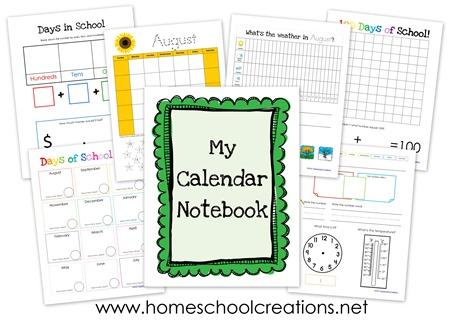 Free Calendar Notebook Printables