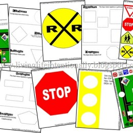 Free Preschool Printables Pack: Traffic Signs