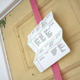 Free Handmade Holiday Organizer