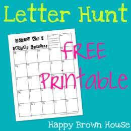 FREE Letter Hunt Printable and Activity Ideas