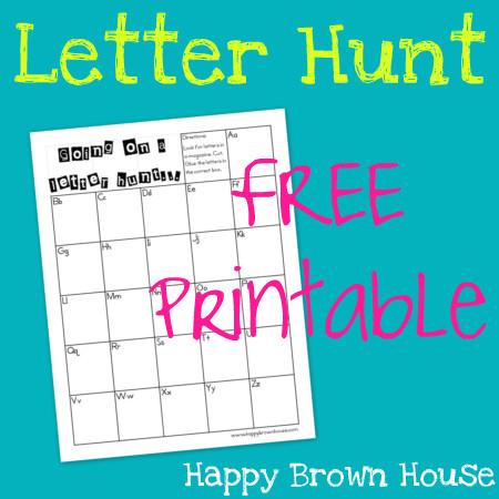 Free Letter Hunt Printable