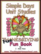 Free Simple Schooling Thanksgiving Free Fun Book!