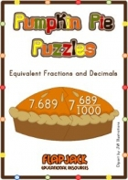 Free Pumpkin Pie Decimal Fraction Puzzles