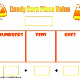 Free Candy Corn Place Value Worksheets