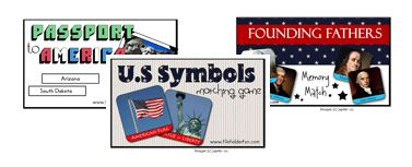 Free Patriotic File Folder Games