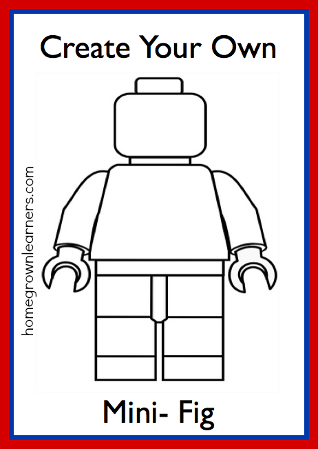 Lego freebies create your own lego mini figure printable for Create and design your own house
