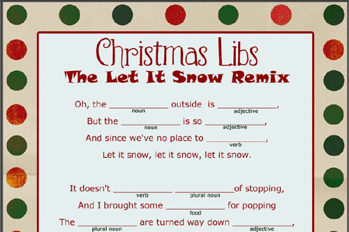 Transformative image for christmas mad libs printable