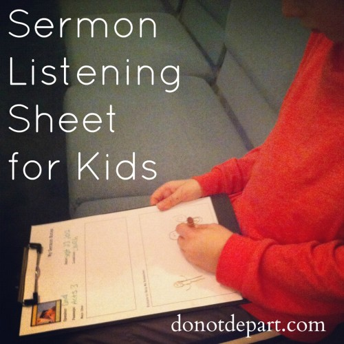 free printable sermon note sheet for kids