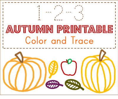 free autumn preschool traceable printable