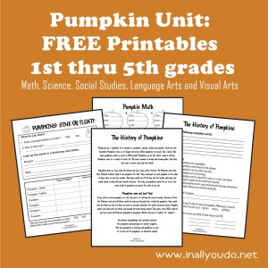 free pumpkin unit printables