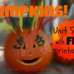 Free Pumpkin Unit Study with Downloads
