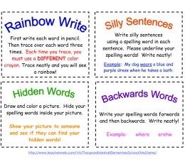 Free Printable Spelling Cards