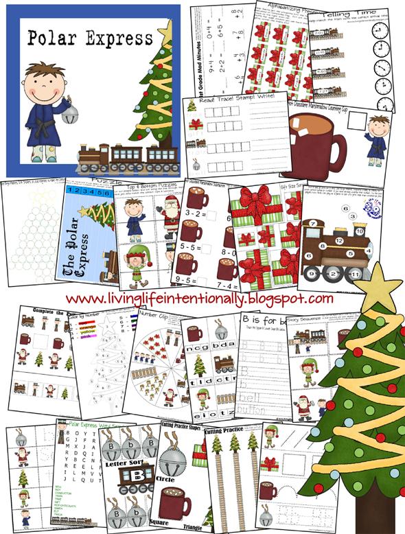 Free Polar Express MEGA Printable Pack 53 Pages – Polar Express Math Worksheets