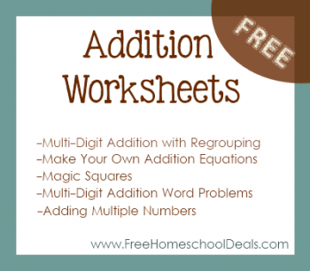 Free Addition Worksheets: Make Your Own Addition Equations, Three ...