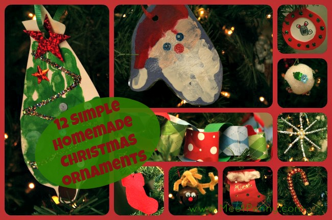 12 simple homemade christmas ornaments free homeschool for Christmas decorations home bargains