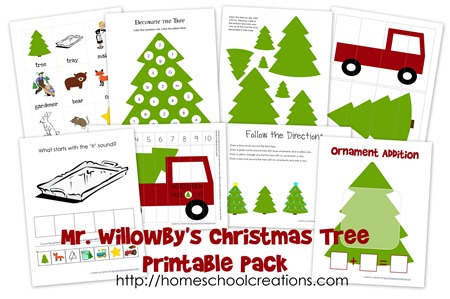 Free Christmas Printables: Mr. Willowbyu0027s Christmas Tree Printable Pack  Free Christmas Tree Templates
