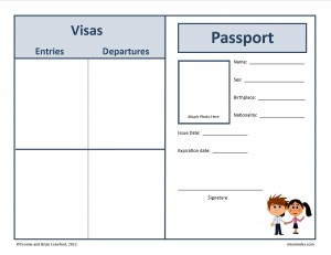 Free passport to the world free homeschool deals for Passport photo print template