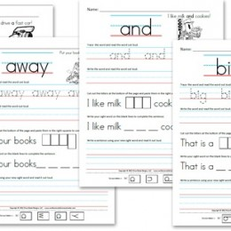 math worksheet : sight words  free homeschool deals © : Free Kindergarten Sight Word Worksheets