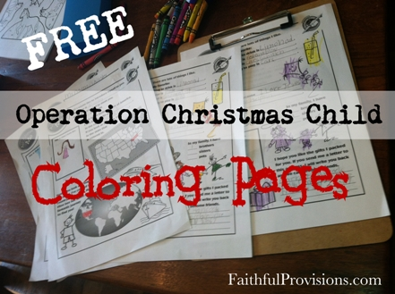 Free Coloring Pages For Operation Christmas Child