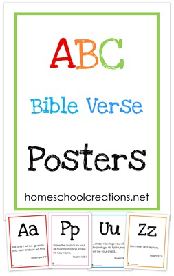 Free ABC Bible Verse Posters | Free Homeschool Deals