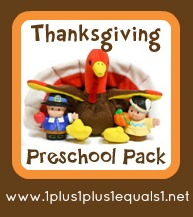 Free Thanksgiving preschool pack