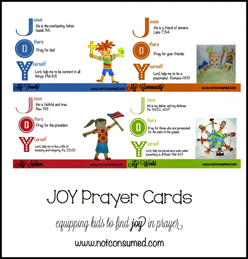 Free Prayer Cards for Kids