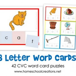 Free Three Letter Word Card Printables