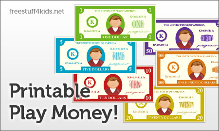 Free Printable Play Money And Printable Play Checks | Free