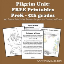 Free Pilgrim Unit Study and Printables (Pre-K – 5th Grade)