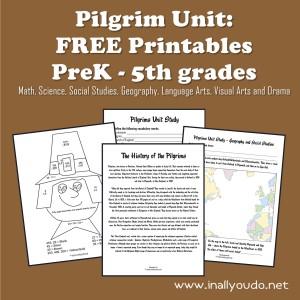 Free Pilgrim Unit Study Printables