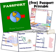 Free Passport Printable Pack  Free Passport Template For Kids