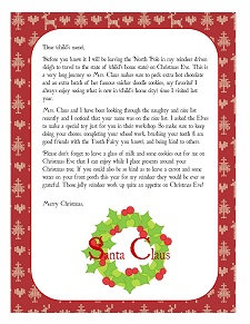 Free Personalized Letter From Santa