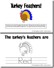 free turkey printable