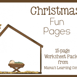 Free Christmas Fun Pages: 15-page Worksheet Set