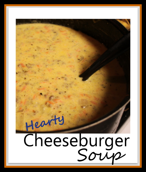 Hearty Cheeseburger Soup