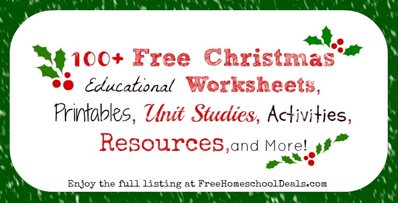 100 Free Christmas Educational Worksheets Printables Unit – Free Christmas Worksheets