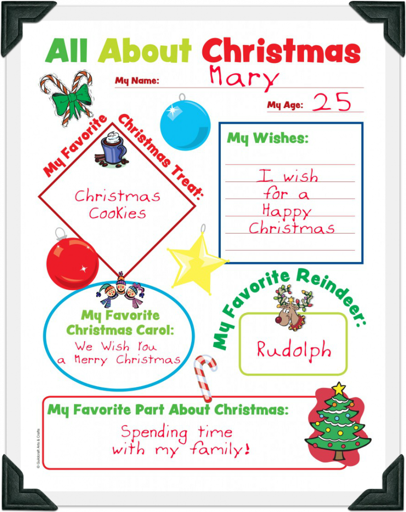 Free Christmas Worksheets: All About Christmas
