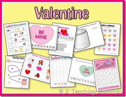 free valentine 39 s day preschool printable pack free homeschool deals. Black Bedroom Furniture Sets. Home Design Ideas