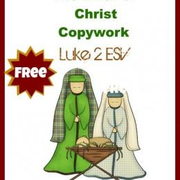 FREE Copywork: Birth of Christ